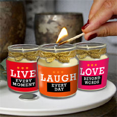 Live Laugh Love Candles Set Of Three