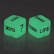 Glow In The Dark Love Dice