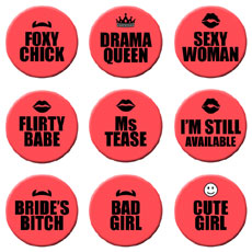 Bachelorette Party Badges Set