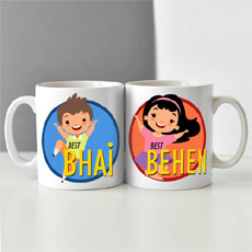 Bhai Behen Mugs Set Of Two