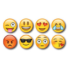 Emoji Fridge Magnets Set