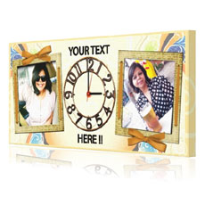 Personalised Rectangle Canvas Clock