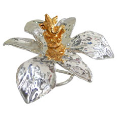 Silver Orchid Gold Ganesha