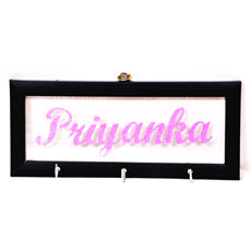Glitter Name Key Holder
