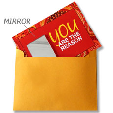 You Are The Reason Mirror Card