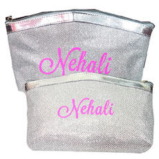 Personalised Glitter Pouches Set