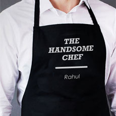 Handsome Chef Name Apron