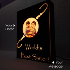 Personalised Rakhi Lamp