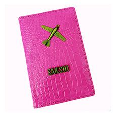 Pink Personalised Passport Case
