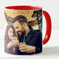 Red Personalised Photo Mug