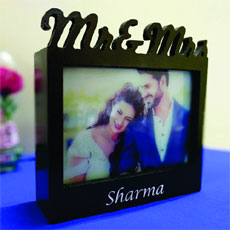 Mr And Mrs Photo Frame Lamp