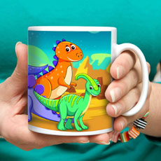 Dinosaur World Kids Milk Mug