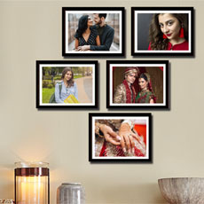Personalised Wooden Frames Set Of Five