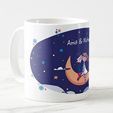 Love On The Moon Personalised Mug