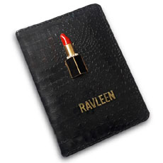 Lipstick Personalised Passport Case
