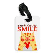 You Make Me Smile Bag Tag