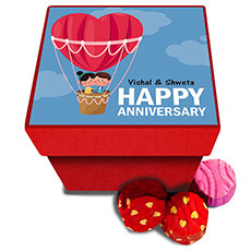 Anniversary Personalised Chocolate Box