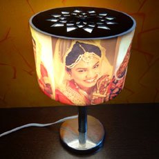 Nostalgia Circlet Personalised Rotating Lamp