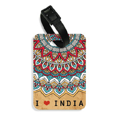 I Love India Luggage Tag