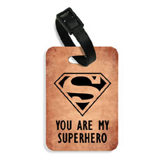 Superhero Luggage Tag