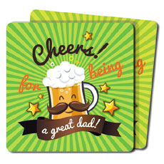 Cheers Great Dad Coasters Set Of Two