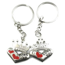 King And Queen Keychain Set