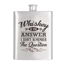 Whiskey Is The Answer Hip Flask