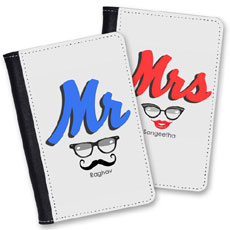 Couples Personalised Passport Covers Set Of Two
