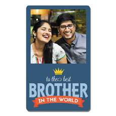 Best Brother Photo Magnet