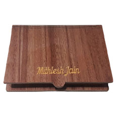 Engraved Wooden Visiting Card Holder