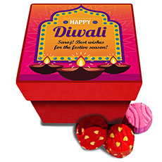Personalised Blue Diwali Chocolates Box