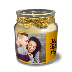 Photo Personalised Candle