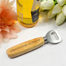 Engraved Wooden Bottle Opener