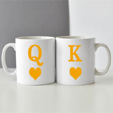 King And Queen Mugs Set Of Two