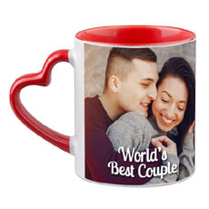 Heart Handle Personalised Mug