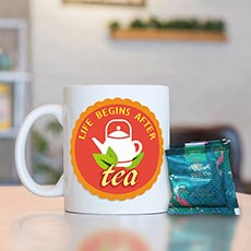 Tea Lovers Mug With Tea Bags Set