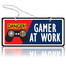 Gamer At Work Wall Hanging