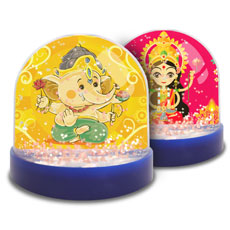 Snow Globe With Laxmi Ganesha