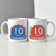 Tenth Anniversary Mugs Set