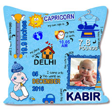 Baby Boy Personalised Cushion
