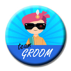 Team Groom Badges Set Of Fifteen