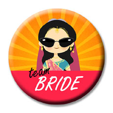 Team Bride Badges Set Of Fifteen